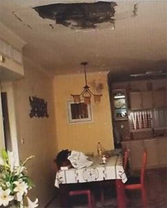 Direct Gaza rocket hit into an Ashkelon apartment.