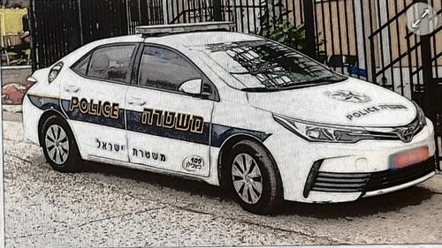 Israeli police car