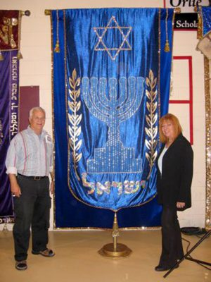 Standing with the banner of Israel